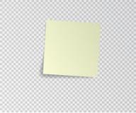 Etiqueta engomada de papel con la sombra en fondo transparente Ilustración del vector Foto de archivo libre de regalías
