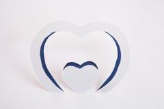 Etiqueta engomada de papel del corazón Fotos de archivo libres de regalías