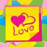 Etiqueta engomada de papel del vector con el corazón Imágenes de archivo libres de regalías
