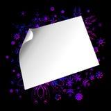 Etiqueta engomada de papel en fondo colorido Stock de ilustración