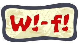 Etiqueta engomada de Wi-Fi ilustración del vector