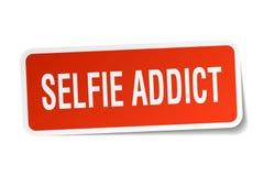 etiqueta engomada del adicto al selfie ilustración del vector