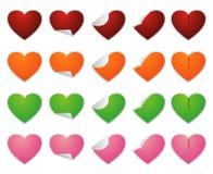 Etiqueta engomada del amor Fotografía de archivo libre de regalías