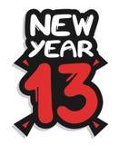 Etiqueta engomada del Año Nuevo 13 Fotos de archivo libres de regalías