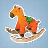 Etiqueta engomada del caballo del juguete Foto de archivo libre de regalías