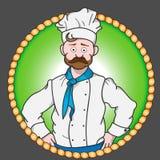 Etiqueta engomada del cocinero del restaurante Imagenes de archivo