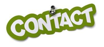 Etiqueta engomada del contacto stock de ilustración