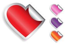 Etiqueta engomada del corazón Foto de archivo libre de regalías