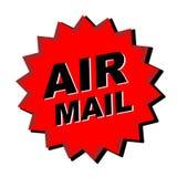 Etiqueta engomada del correo aéreo imagen de archivo