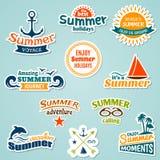 Etiqueta engomada del elemento del verano libre illustration