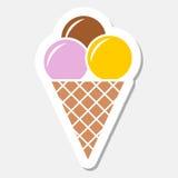Etiqueta engomada del helado Fotografía de archivo libre de regalías