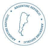 Etiqueta engomada del mapa del vector de la Argentina Fotos de archivo