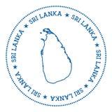 Etiqueta engomada del mapa del vector de Sri Lanka Foto de archivo