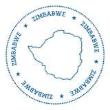 Etiqueta engomada del mapa del vector de Zimbabwe Fotografía de archivo