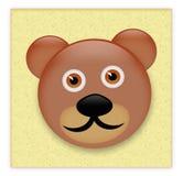 Etiqueta engomada del oso del peluche Fotos de archivo libres de regalías