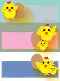 Etiqueta engomada del pollo Fotografía de archivo