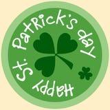 Etiqueta engomada del símbolo del icono de la moneda de la estera de la cerveza de Patrick del día Imágenes de archivo libres de regalías