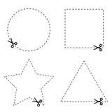 Etiqueta engomada del vector del círculo y del triángulo ilustración del vector