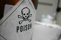 Etiqueta engomada del veneno Imagenes de archivo