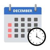 Etiqueta engomada diciembre del calendario, haciendo frente a la etiqueta engomada de los plazos libre illustration
