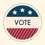 Etiqueta engomada e insignia de votación de la elección Americano Flag& x27; s Elem simbólico Imagenes de archivo