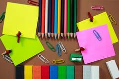 Etiqueta engomada en diversos colores Fotografía de archivo libre de regalías