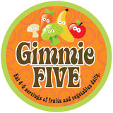 Etiqueta engomada/escritura de la etiqueta del Promo de Gimmie cinco en el fondo 70s Fotografía de archivo
