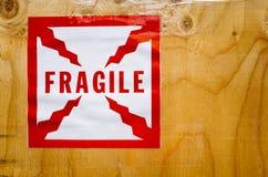 Etiqueta engomada frágil Imágenes de archivo libres de regalías