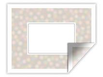 Etiqueta engomada/marco ilustrados con el modelo floral Fotografía de archivo