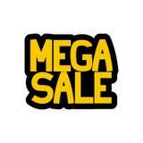 Etiqueta engomada mega de la venta stock de ilustración