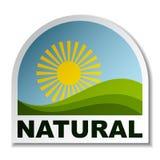 Etiqueta engomada natural del paisaje Fotos de archivo libres de regalías