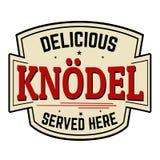 Etiqueta engomada o etiqueta de Knodel Fotos de archivo