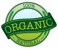 Etiqueta engomada orgánica Imagen de archivo libre de regalías