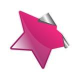 Etiqueta engomada púrpura de la peladura Stock de ilustración