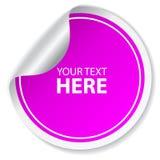 Etiqueta engomada púrpura del vector ilustración del vector