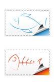 Etiqueta engomada a pescado Fotos de archivo libres de regalías