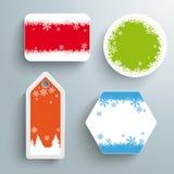Etiqueta engomada PiAd del precio de venta de la Navidad Fotos de archivo