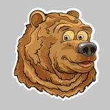 Etiqueta engomada principal del oso fotografía de archivo