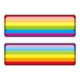 Etiqueta engomada rayada del igual gay de la bandera Imagen de archivo libre de regalías