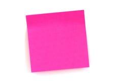 Etiqueta engomada rosada Fotografía de archivo libre de regalías