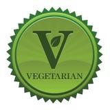 Etiqueta engomada vegetariana Imagen de archivo libre de regalías