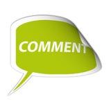 Etiqueta engomada verde del comentario ilustración del vector