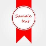 Etiqueta engomada y cinta del vector Imagen de archivo libre de regalías