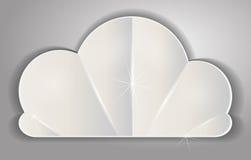 Etiqueta-etiqueta com laço sob a forma das nuvens volumétricos no vetor d Fotografia de Stock Royalty Free