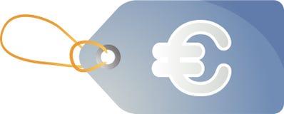 Etiqueta euro de las ventas Imagenes de archivo