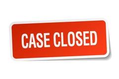 etiqueta fechado do caso ilustração royalty free