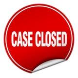 etiqueta fechado do caso ilustração stock
