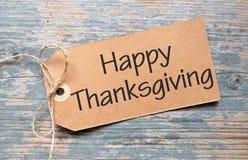 Etiqueta feliz de la acción de gracias Fotografía de archivo libre de regalías