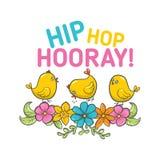 Etiqueta feliz de Pascua del vector Imagen de archivo