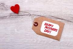 Etiqueta feliz do dia do ` s da mãe Fotografia de Stock